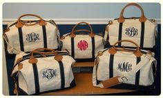 Monogram Canvas Weekend Duffle Bag by TetaApparel on Etsy