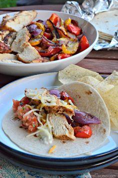Grilled Chicken Fajitas | Katie's Cucina