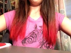Amazing result from dying my hair with Kool aid I still can't believe it myself !!!