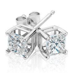 Princess Diamond Solitaire Earrings 1ctw - Item 19257294   REEDS Jewelers