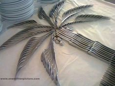 Buffet Table Design, made with flatware