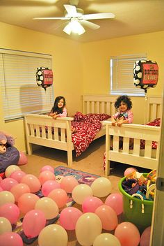 Decorate children's bedroom floor with balloons the morning of their Birthday. :)