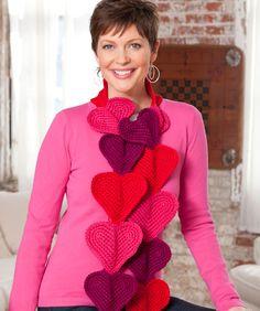 #redheartyarn Heart Splendor Scarf