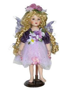 Fairy Porcelain Dolls-Fairy Dolls-Angel Porcelain Dolls-FAIRY Porcelain Doll By Cathay Collection-Kylie