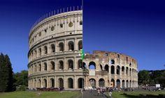 Il Colosseo, simbolo di Roma nel mondo. <a href=http://www.focus.it/anticaroma/default.aspx>Guarda com'era (e confrontalo con com'è oggi)</a>