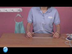 tranformar un gancho de ropa en 3 diferentes formas