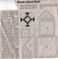 State ~ Rhode Island Quilt block