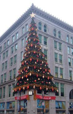 Hornes Building at Christmas, Pittsburgh, Pennsylvania