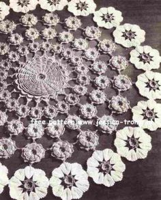 Bouquet doily free vintage crochet doilies patterns