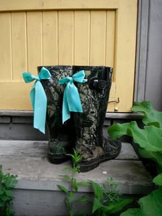 Boots & Bows          Country Girl Kickers by CountryStrong316, $90.00 bow countri, boot bow