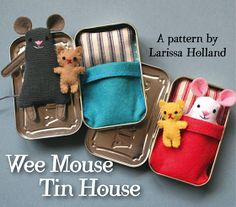 mmmcrafts: Wee Mouse Tin House pattern available! So cute!