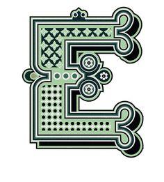 typography :: letter e // by jonny wan