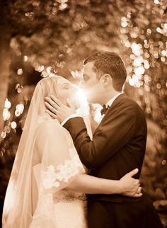This couple had a spectacular wedding and their love was brightly shining! Photography by ElizabethMessina.com