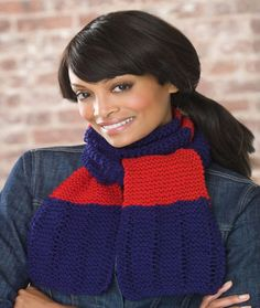 Simple Knit Scarf Fr