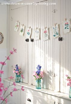 How to make a quick and easy botanical print banner