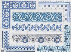 borders in blue