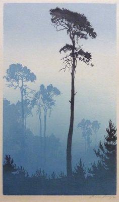 shades of trees.  Oscar Droege