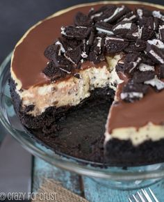 Cookies and Mint Chip Cheesecake