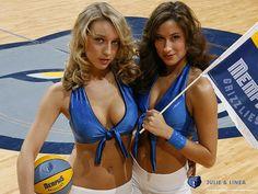 Memphis Grizzlies Cheerleaders Julie & Linea