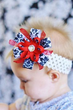 Baby hair bow ribbon flower bow Clip