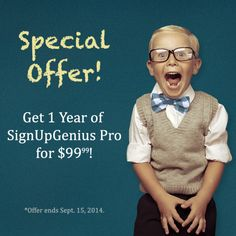 Does your school need help organizing fundraisers or events? Get a year of SignUpGenius for just $99.99!