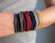 tshirt bracelet.