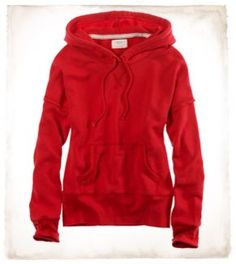 Warm hoodies like this Aerie French Terry Popover Hoodie 2011 style, red, popov hoodi, warm hoodi, hoodi style, style board, popovers, buzo, sport style