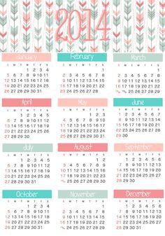 Stylish Living: Free 2014 Calendar  Planner
