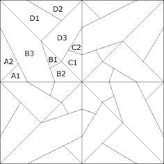 Padrão Patchwork: Tangled Estrela Variação