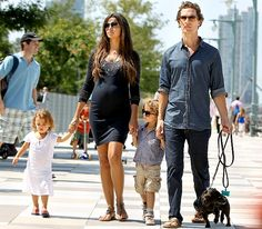 Matthew McConaughey with wife Camila, daughter Vida, and son Levi