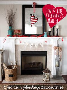 Get in the spirit with a heart-shaped Valentine's Day wreath-alternative and lovey-dovey bunting, too!