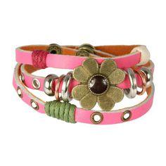 SilberDream leather bracelet pink wit... (bestseller)