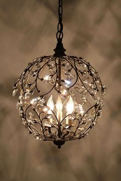 In love with this little chandelier...