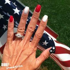shellac patriotic nail art | Fourth of July Nail Art. So I was picking at my nails the other day ...