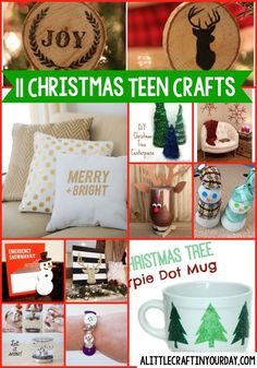 I thought it was time to start our DIY Christmas Teen Crafts. You're going to love all the inspiration we have featured for you today. #christmas #diycristmas #holidays #diyholidayideas #diychristmasideas #diychristmasdecor #diychristmasgiftideas #christmascrafts #christmaskidcrafts #diygiftideas #christmasdiy #christmascrafts #diychristmasideas #crafts #teen #teens #teencrafts #craftsforteens #craftideasforteens #teencraftideas #diysforteens #teendiy #diyprojectsforteens #diyteencraftprojects