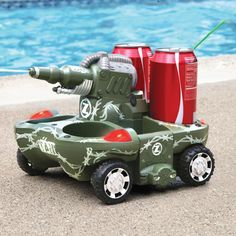 The Remote Controlled Armored Drink Carrier - Hammacher Schlemmer