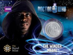 The Winder Dr Who official medal from The Royal Mint