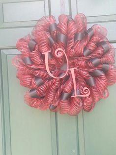 University of Louisville mesh wreath
