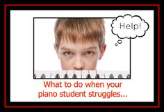 Great tips for when your students are struggling through a piece of music