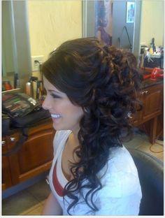 bridesmaid hair, princess hair, prom hairstyles, wedding hairs, bridal hair, curly hair, hair idea, formal hair, dream hair
