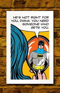 Batman & Diana <3  (aka Wonder Woman, shhh... don't tell anyone)