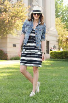 white shoes, summer looks, casual shoes, dress, jean jackets, blues, black, denim jacket, american girls