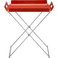 tray table in burnt orange and also in white