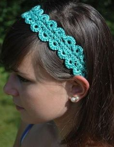 Calypso Headband Free Crochet Pattern craft, crochet tutorials, crochet free patterns, crocheted headbands, crochet patterns, hairpin lace, lace patterns, hat, crochet headbands