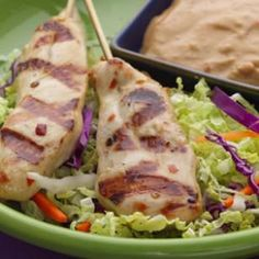 Recipe:   Chicken Satay with Spicy Peanut Sauce