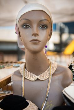 We have a great new selection of 1960's silk Scarves, not to mention our 1930-50 Handmade pearl collars. SAT & Sat Hell's Kitchen Flea Market in NYC.