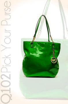 Michael Kors - Jet Set Chain Tote in Palm Green. Go to wkrq.com to find out how to play Q102's Pick Your Purse!