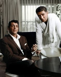 Dean Martin & Peter Lawford two of the Rat Pack - Lawford was related to the Kennedys (JFK)