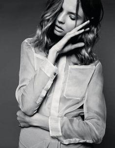 note: Magdalena Frackowiak by Gianluca Fontana for Harper's Bazaar Poland April 2014