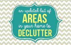 Areas in Your Home to Declutter